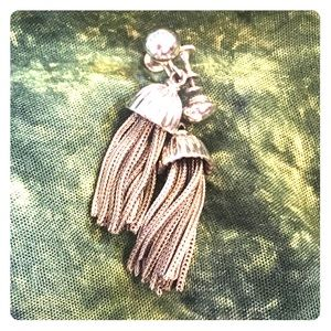Jewelry - Sterling sliver CLIP-ONs, tassel earrings 🧝🏻♀️